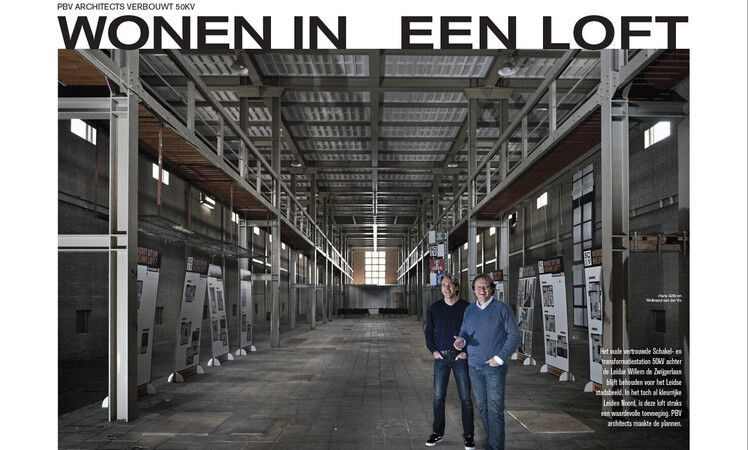 artikel in blad leven over project 50KV leiden